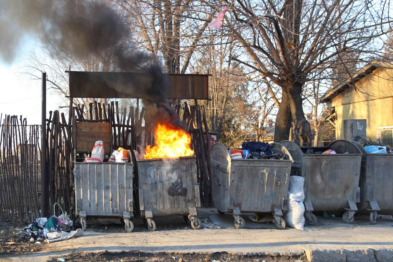 "A real dumpster fire (from which the term ""dumpster fire"" was coined)"